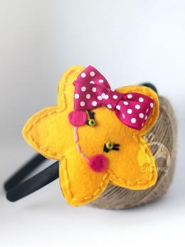 Диадема за коса ръчна изработка от филц Звездичка (изработва се по заявка)