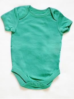 Бебешко боди с къс ръкав серия 'Дино', зелено