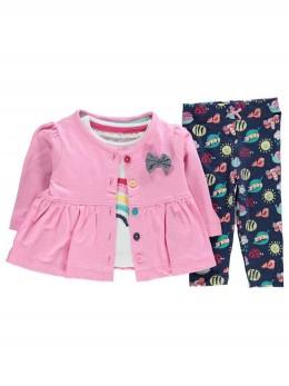 Красив бебешки комплект със сако с пеплум за момиче 'Дъга'