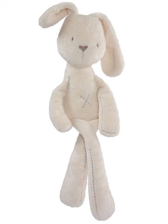 Бебешка играчка за успокояване плюшено зайче