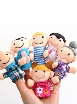Плюшени образователни играчки за пръсти 'Семейство' (6 бр. комплект)