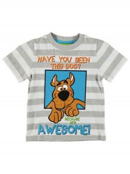 *ИЗЧЕРПАН* Тениска с къс ръкав за момче с райета 'Скуби Ду'