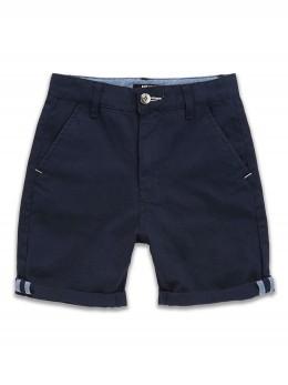 *ИЗЧЕРАПН* Памучни къси панталони тип бермуди за момче в тъмно синьо