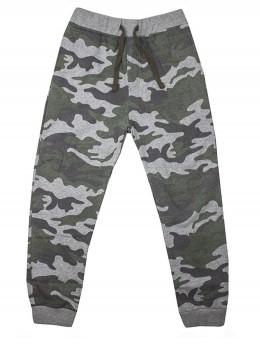Ватиран спортен панталон за момче камуфлаж каки/зелено
