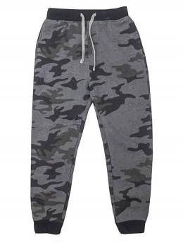 Ватиран спортен панталон за момче камуфлаж сиво