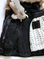 Детско дълго зимно яке с качулка и допълнителна подплата за момиче в черно
