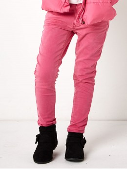 Практични дънки за момиче в наситено розово