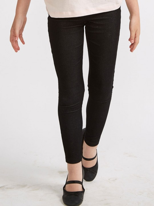 Клин с джобчета за момиче в черно