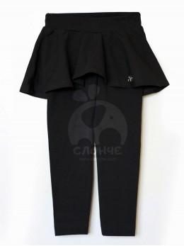 Клин с пола за момиче в черно