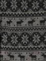 Клин фино плетиво за момиче в сиво с еленчета