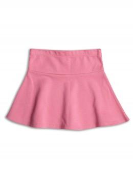 Розова клоширана пола от плътно трико