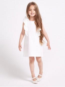 *ИЗЧЕРПАН* Детска официална рокля с къдрици 'Снежен ангел'