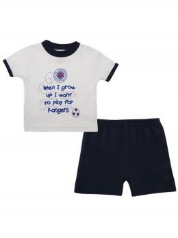 Бебешка пижама комплект от 2 части за футболни фенове