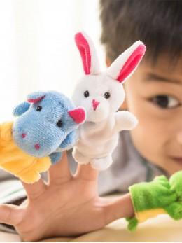 *ОЧАКВА ЗАРЕЖДАНЕ* Плюшени образователни играчки за пръсти 'Животни' (10 бр. комплект)