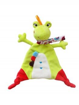 Мека развиваща бебешка играчка-одеялце ЖАБЧЕ
