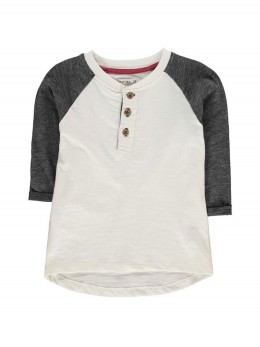 Лятна блуза за момче с 3/4 реглан ръкави в контрастен цвят